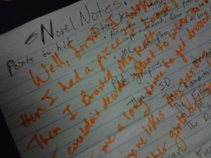 This is what your notes could look like after a bad critique group.