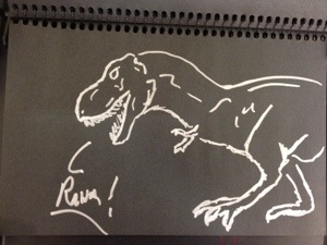 This is a drawing of a dinosaur.  I Like Dinosaurs.